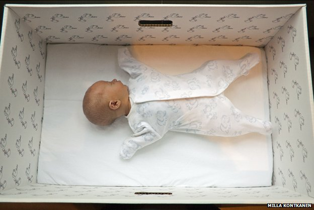 BBC News – Why Finnish babies sleep in cardboard boxes