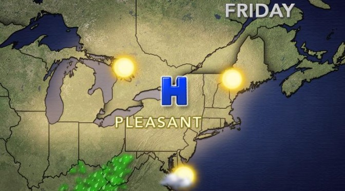 High pressure settles in to provide pleasant and comfortable conditions with plenty of sunshine