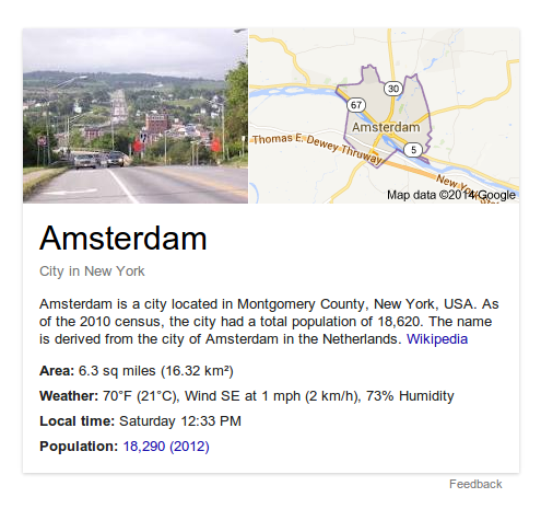 Amsterdam, As Seen By Google