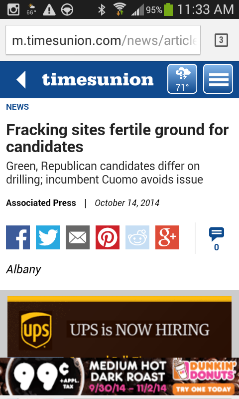 Fracking sites fertile ground for candidates – Times Union