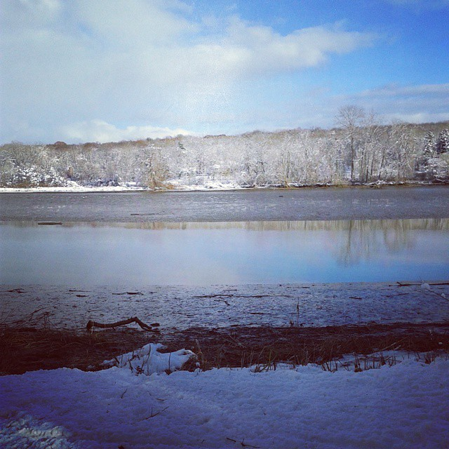 Mud Flats On Schodack Creek
